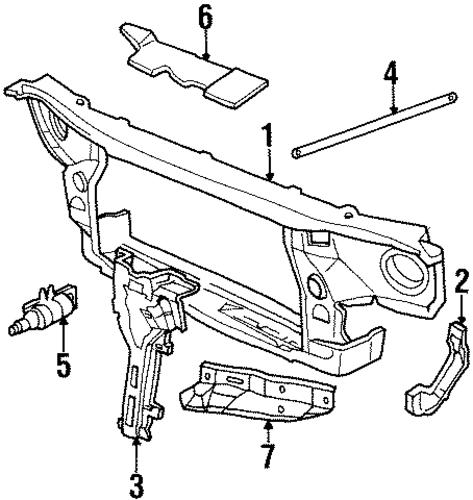 oem radiator support for 1992 cadillac eldorado