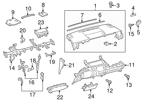 Upper Panel Bracket - Toyota (55327-47070)