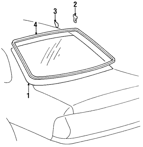 BODY/GLASS & HARDWARE - BACK for 1996 Toyota Avalon #1