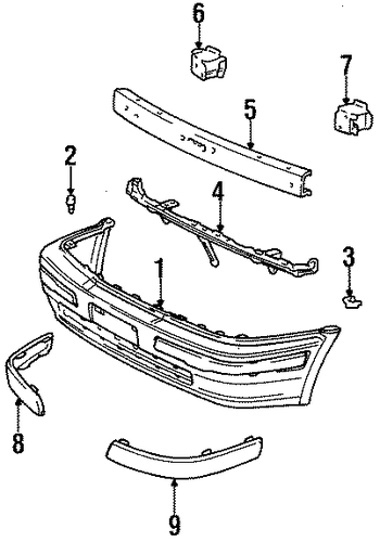 BODY/BUMPER & COMPONENTS - FRONT for 1998 Toyota Tercel #1