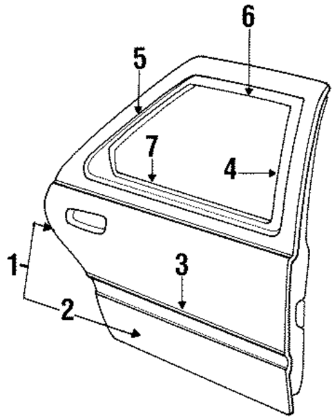 REAR DOOR For 1993 Ford Tempo