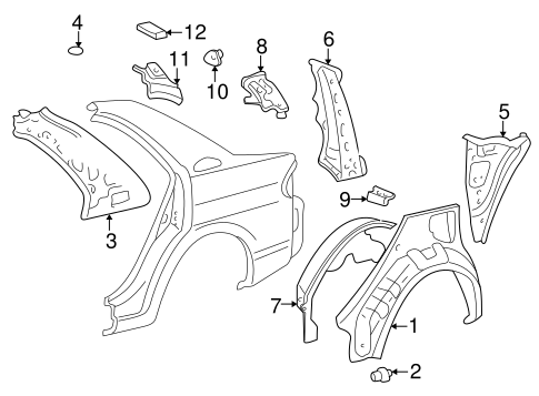 BODY/INNER STRUCTURE for 2001 Toyota Prius #1