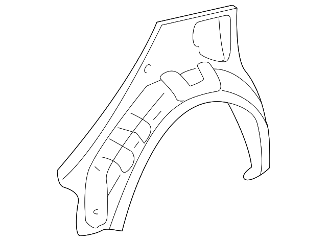 Outer Wheelhouse - Toyota (61631-47010)