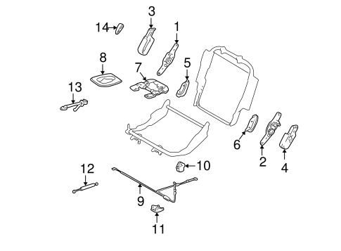 BODY/TRACKS & COMPONENTS for 1999 Toyota Land Cruiser #1