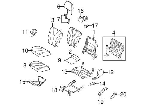 BODY/REAR SEAT COMPONENTS for 2015 Toyota Venza #1