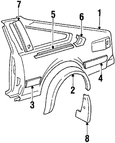 Extension Panel - Toyota (61681-14010)