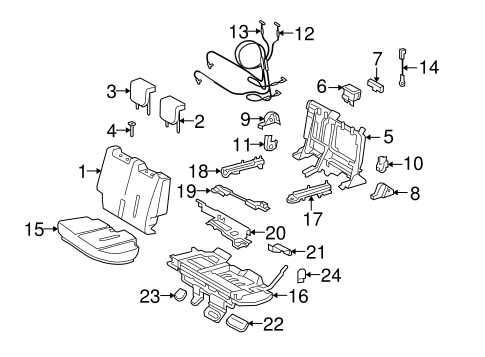 BODY/REAR SEAT COMPONENTS for 2009 Scion xD #2