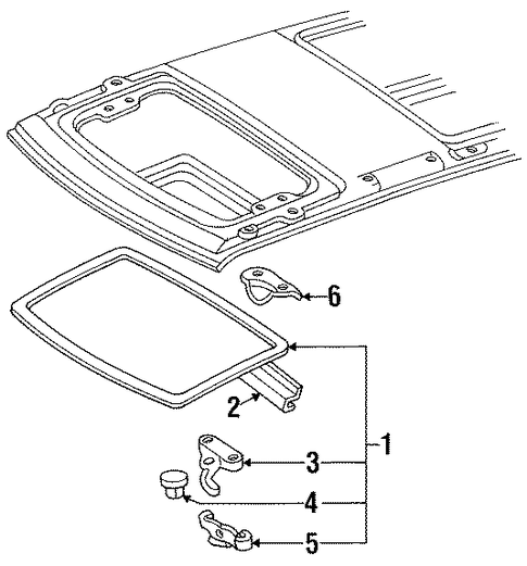 Glass Assembly - Toyota (63201-28180)