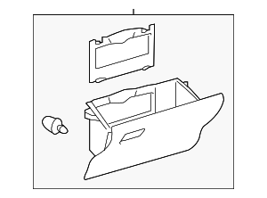 Glove Box Assembly - Toyota (55550-47121-C0)