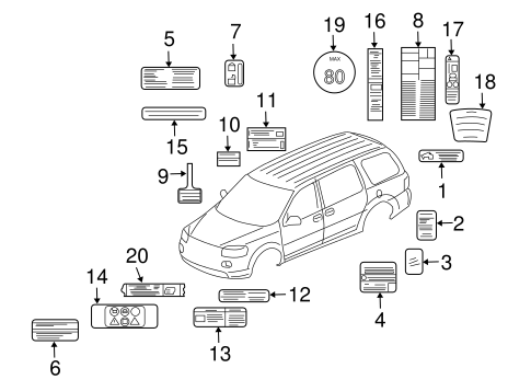 labels parts for 2006 pontiac montana