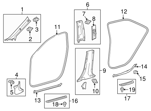 Weather-Strip On Body - Toyota (62331-06120-B1)