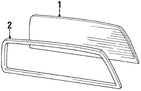 Back Glass - Toyota (64811-89152)