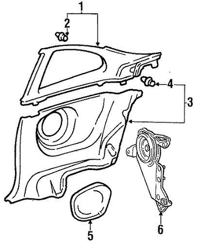 BODY/INTERIOR TRIM - QUARTER PANELS for 1998 Toyota Celica #2