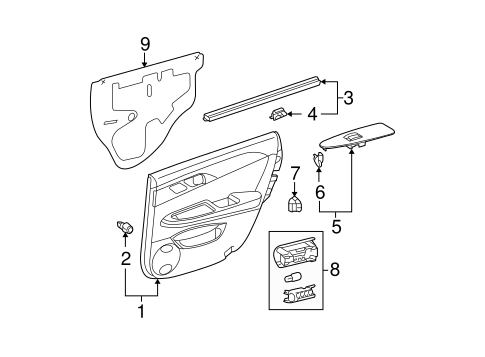 ELECTRICAL/REAR DOOR for 2006 Toyota Avalon #3