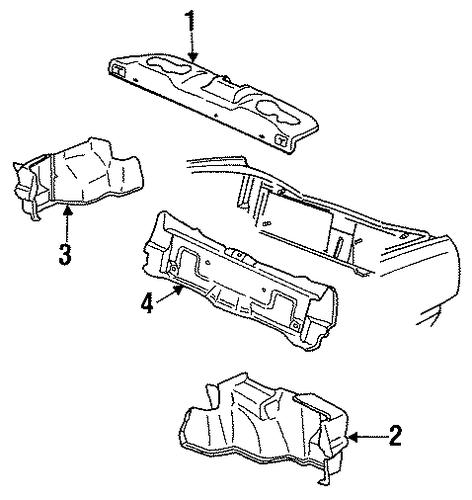 Oem Interior Trim Rear Body For 1993 Buick Lesabre