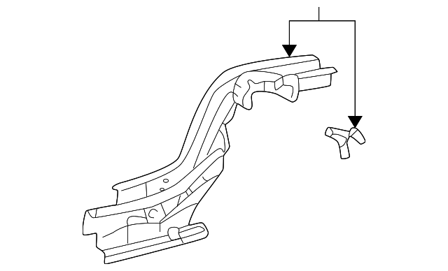 Rear Rail Assembly - Toyota (57611-02902)