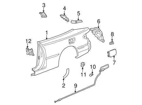 Reinforced Bracket Upper Extension - Toyota (61628-AA010)
