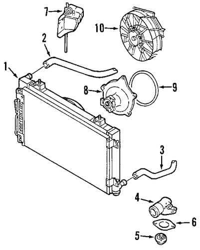 radiator  u0026 components for 2001 chrysler prowler