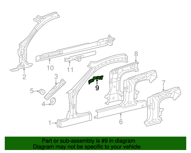 215 630 02 38 reinforcement genuine mercedes benz oem for Mercedes benz parts and accessories online