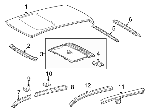 BODY/ROOF & COMPONENTS for 2014 Toyota Tundra #2