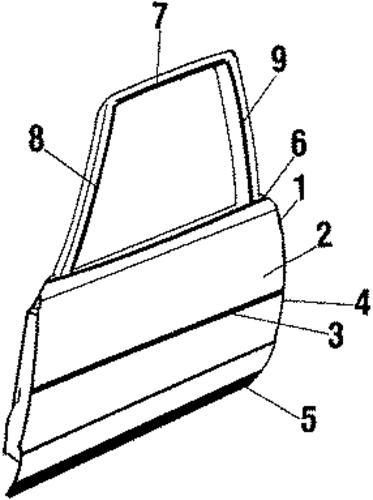 oem front door for 1986 oldsmobile cutlass supreme