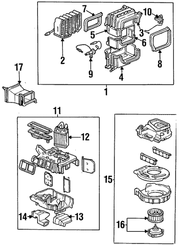 OEM Honda 79106-SS0-A01 - Outlet B, Heater