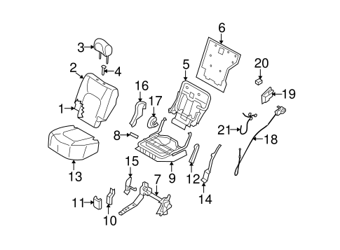 2011 nissan murano front diagram with Rear Seat  Ponents Scat on Wiring Diagram For 2010 Nissan Armada moreover Nissan Rogue Fuel Filter Location together with Car Door Plastic moreover Nissan Xterra Door Actuators Relay Diagram Wiring further Rear Seat  ponents Scat.