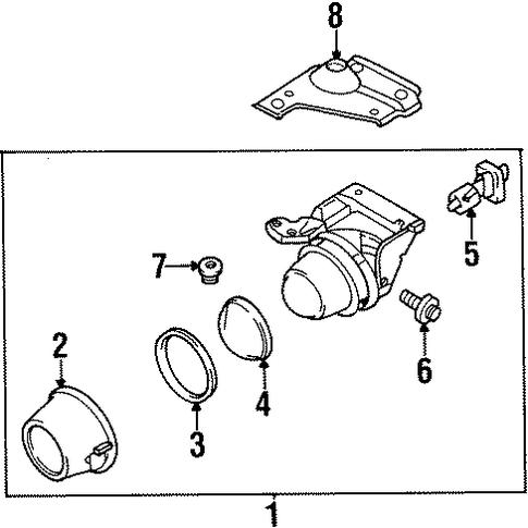 Wheels on Mitsubishi Starion Steering