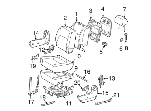 BODY/REAR SEAT COMPONENTS for 2010 Toyota Sienna #1