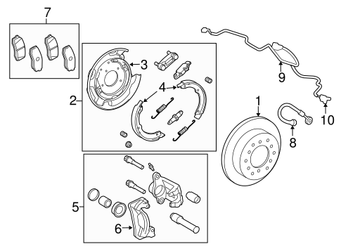 BRAKES/BRAKE COMPONENTS for 2015 Toyota Tundra #1