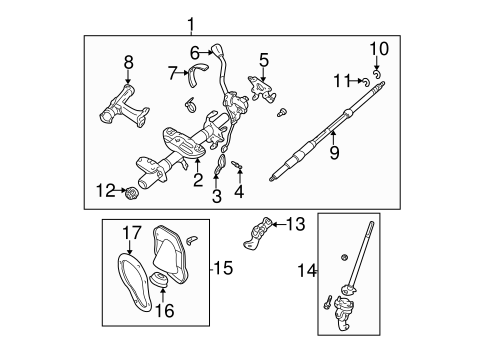 STEERING/STEERING COLUMN ASSEMBLY for 1997 Toyota Tacoma #4