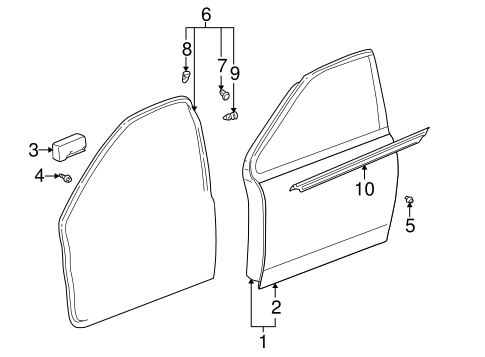 Door Shell - Toyota (67001-52300)