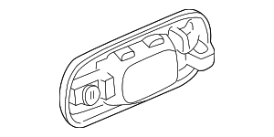 OEM Honda 72680-ST0-J02ZR - Handle, Outside