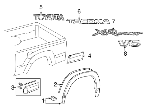 BODY/EXTERIOR TRIM - PICK UP BOX for 2013 Toyota Tacoma #1