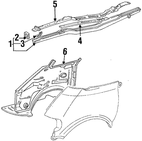 BODY/STRUCTURAL COMPONENTS & RAILS for 1996 Toyota Previa #1