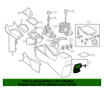 Rear Cup-Holder - Toyota (55604-02050-C0)