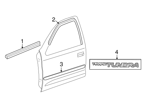 BODY/EXTERIOR TRIM - FRONT DOOR for 2004 Toyota Tundra #2