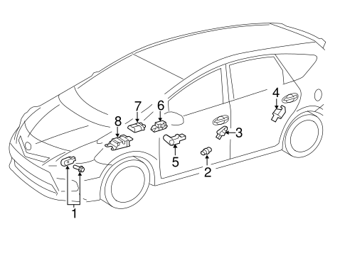 ELECTRICAL/AIR BAG COMPONENTS for 2015 Toyota Prius V #2