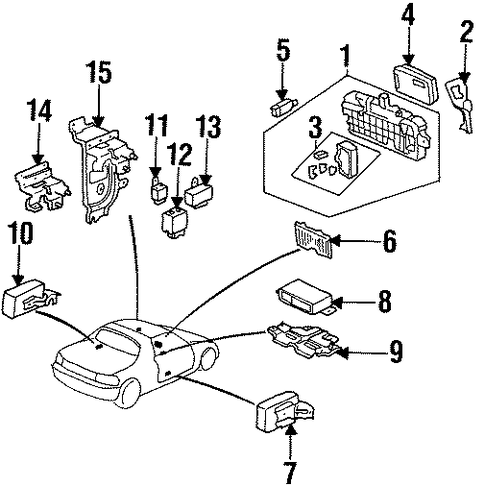 OEM Honda 39500-SR3-A11 - Control Assembly, Interlock (Mitsuba)