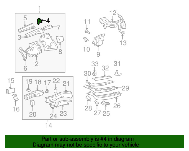 Inner Reinforced Support Bracket - Toyota (53835-0E040)