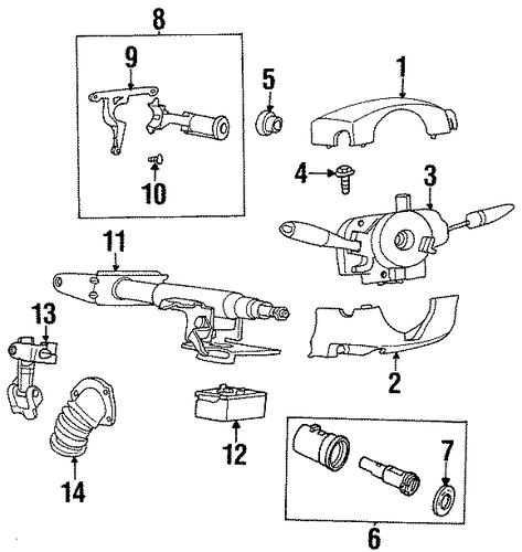 oem ignition lock for 1998 saturn sc2
