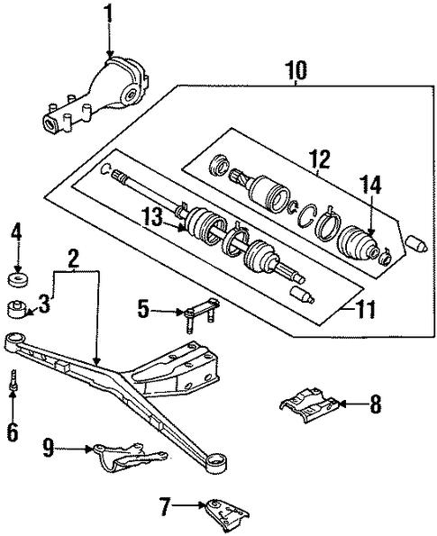 axle  u0026 differential for 1998 subaru legacy