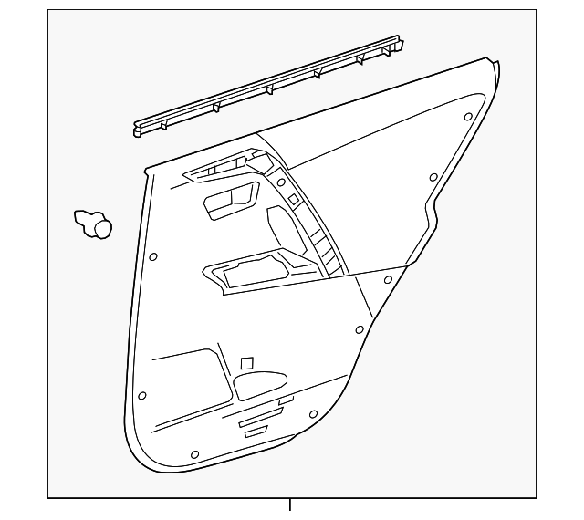 Door Trim Panel - Toyota (67640-0R140-C1)