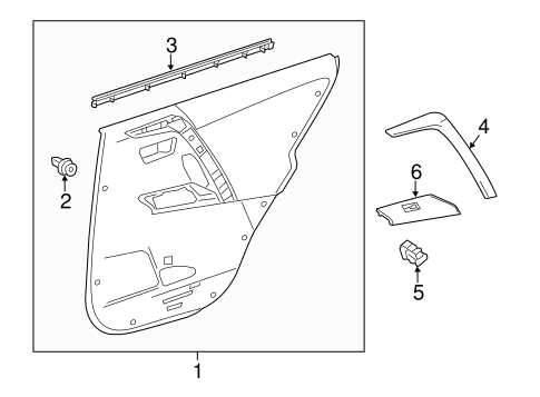 Door Trim Panel - Toyota (67640-0R060-C3)