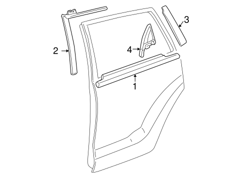 BODY/EXTERIOR TRIM - REAR DOOR for 2003 Toyota Matrix #1