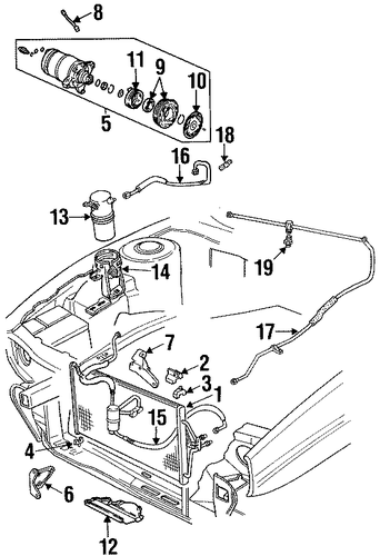 oem condenser  compressor  u0026 lines for 1998 cadillac eldorado
