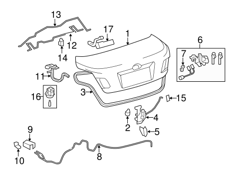 BODY/LID & COMPONENTS for 2010 Toyota Camry #1