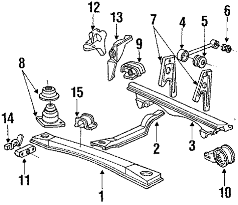 1987 Honda ACCORD SEDAN LX Beam, Front - (50250SE0010)