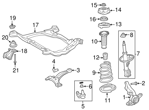 FRONT SUSPENSION/SUSPENSION COMPONENTS for 2012 Toyota Sienna #3