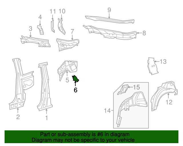 Lower Panel Bracket - Toyota (61654-21040)